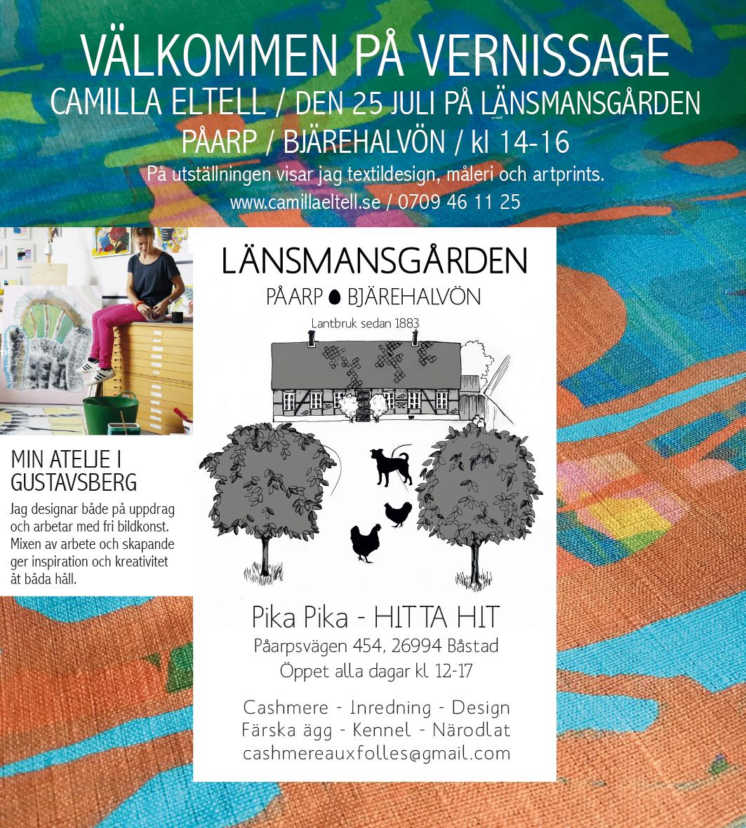 Utställning på Länsmansgården 25 juli!